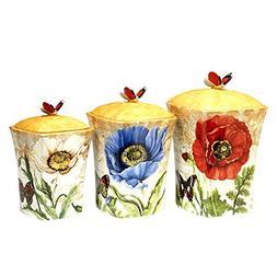 Certified International 22554 Ceramic Dinnerware Poppy Garde