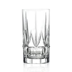Lorren Home Trends 262330 Chic Set of 6 High Ball Tumblers,