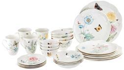 Classic Dinnerware Set Lenox 28 Piece Butterfly Meadow dishw