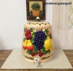 3-D MIxed Fruit Ceramic Beverage Dispenser, Water Jar, 87035