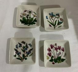 3-Inch Portmeirion Botanic Garden Square Mini Dishes Set Of