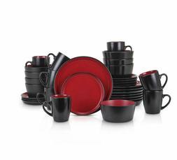 32-Piece Stoneware Dinnerware Set, dinner set, dish sets