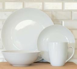 10 Strawberry Street 32-Piece White Round Coupe Dinnerware S