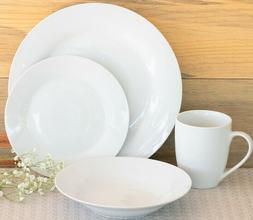 10 Strawberry Street 32-Piece White Round Dinnerware Set Ser