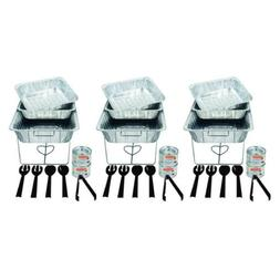 Party Essentials 33 Piece Serving Kit, Includes Chafing Kits