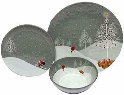 Melange 36-Piece 100% Melamine Dinnerware Set  | S