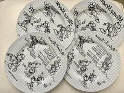 Disney Mickey Mouse Minnie Sketchbook Dinner Plates Set 90