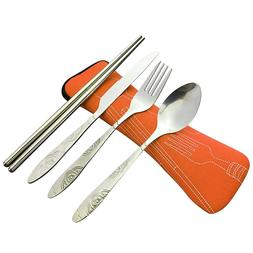 4 Pcs/<font><b>Set</b></font> Stainless Steel/Fork/Spoon/Cho