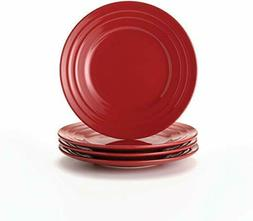 "4 Piece Set-Rachael Ray Double Ridge 11"" Dinner Plates Dinne"