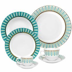 42 piece flamingo dinnerware set tiara