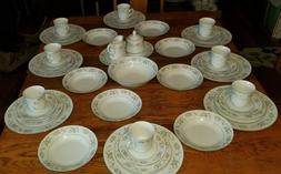 44 PC Set Sango Majestic Cannes 8078 China Service for 8 in