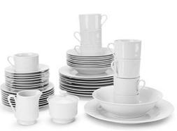 10 Strawberry Street 45-Piece White Round Dinnerware for 8 +