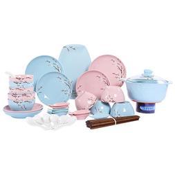 Blue HSQ235//BP Happy Sales Happy Sales Sauce Dish Cherry Blossom Blue 6 pc