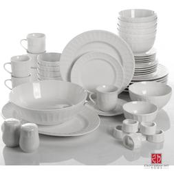 46 Piece Dinnerware and Serveware Set Home Furniture Plates