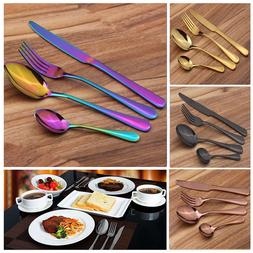 4Pcs/Set Stainless Steel Flatware Dinnerware Cutlery Set For