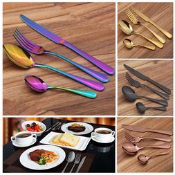 4Pcs/Set Stainless Steel Flatware Dinnerware Cutlery Set For