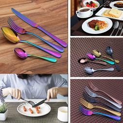 4Pcs Stainless Steel Flatware Dinnerware Cutlery Set Fork Sp