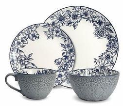 5216941 gabriela blue 16 piece dinnerware set
