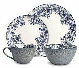 Pfaltzgraff 5216941 Gabriela Blue 16-Piece Dinnerware Set, S