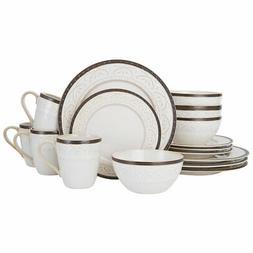 Pfaltzgraff 5217018 Promenade Scrool 16-Piece Dinnerware Set