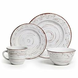 5217179 trellis white 16 piece dinnerware set