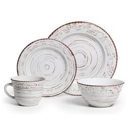 Pfaltzgraff 5217179 Trellis White 16-Piece Dinnerware Set, S