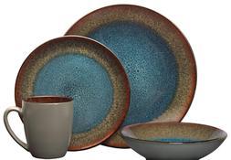 Pfaltzgraff 5239319 Monroe Blue 16-Piece Dinnerware Set, Ass