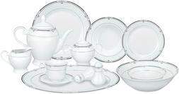 Lorren Home Trends 57-Piece Porcelain Dinnerware Set, Rio, S
