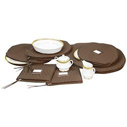6 PC Fine China Dinnerware Accessory Storage Set Deluxe Quil