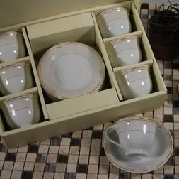 6 Person Espresso Set Cup and Saucer 6 Cups and 6 Saucers El