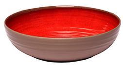 Melange 6-Piece 100% Melamine Pasta Bowl Set Clay Collection