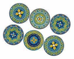 Melange 6-Piece 100% Melamine Salad Plate Set  |...