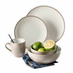 6 piece dinnerware set service plates bowls