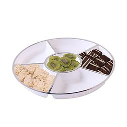 Party Bargains 6 Sectional Round Plastic Serving Tray, Size: