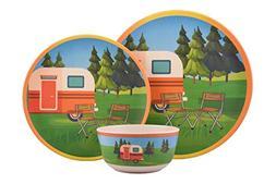 Melange 608410093423 Bamboo Campervan Dinnerware Set