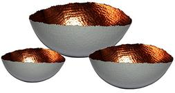 "Matsuta 608410099951 Cuvier, Set of 3 Oval Bowls - 6"", 9"" &"