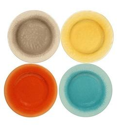 Melange 612409798909 Crackle Collection Salad Plates