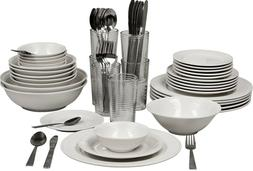 10 Strawberry Street 62-Piece Dinnerware + Glassware + Flatw