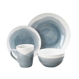 American Atelier 6702-16-RB Oasis Dinnerware Set , Gray/Blue