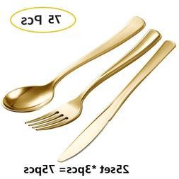 75pcs Disposable <font><b>Plastic</b></font> <font><b>Dinner