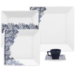 Oxford 7891361969548 12 Piece Quartier Dinnerware Set, White