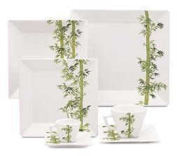 Oxford 7891361975440 12 Piece Quartier Dinnerware Set, Bambo