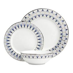 Lenox 869063 3 Piece Geodesia Place Setting Dinnerware Set,