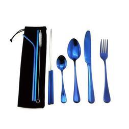 8pcs Travel Flatware set Stainless Steel Dinnerware Chopstic
