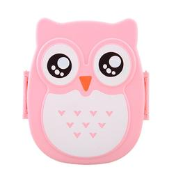 900ML PP Cute Owl food box Food Fruit Storage Container Port