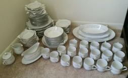 Sango 96 piece Platinum Trim Fine China