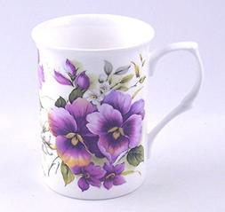 Adderley of England - Fine English Bone China Mug - Pansy Wr