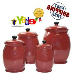 American Atelier Hearthstone 4 Piece Canister Set with Lids,