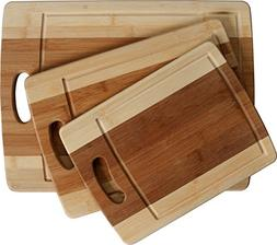 CC Boards 3-Piece Bamboo Cutting Board Set: Wooden butcher b