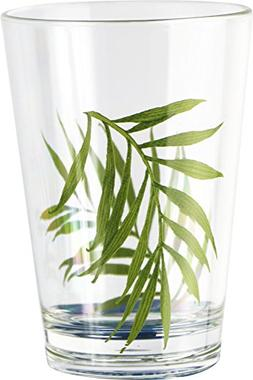 Corelle Coordinates Bamboo Leaf 8 Ounce Acrylic Glasses, Set
